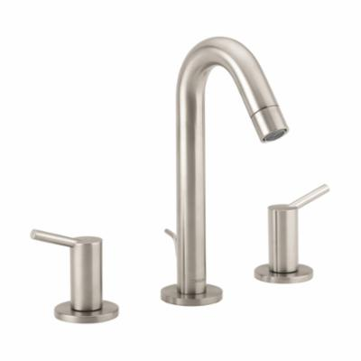 Hansgrohe 32310821 Talis S Widespread Bathroom Faucet, 1.5 gpm, 6 in H Spout, 8 in Center, Brushed Nickel, 2 Handles, Pop-Up Drain, Import, Commercial