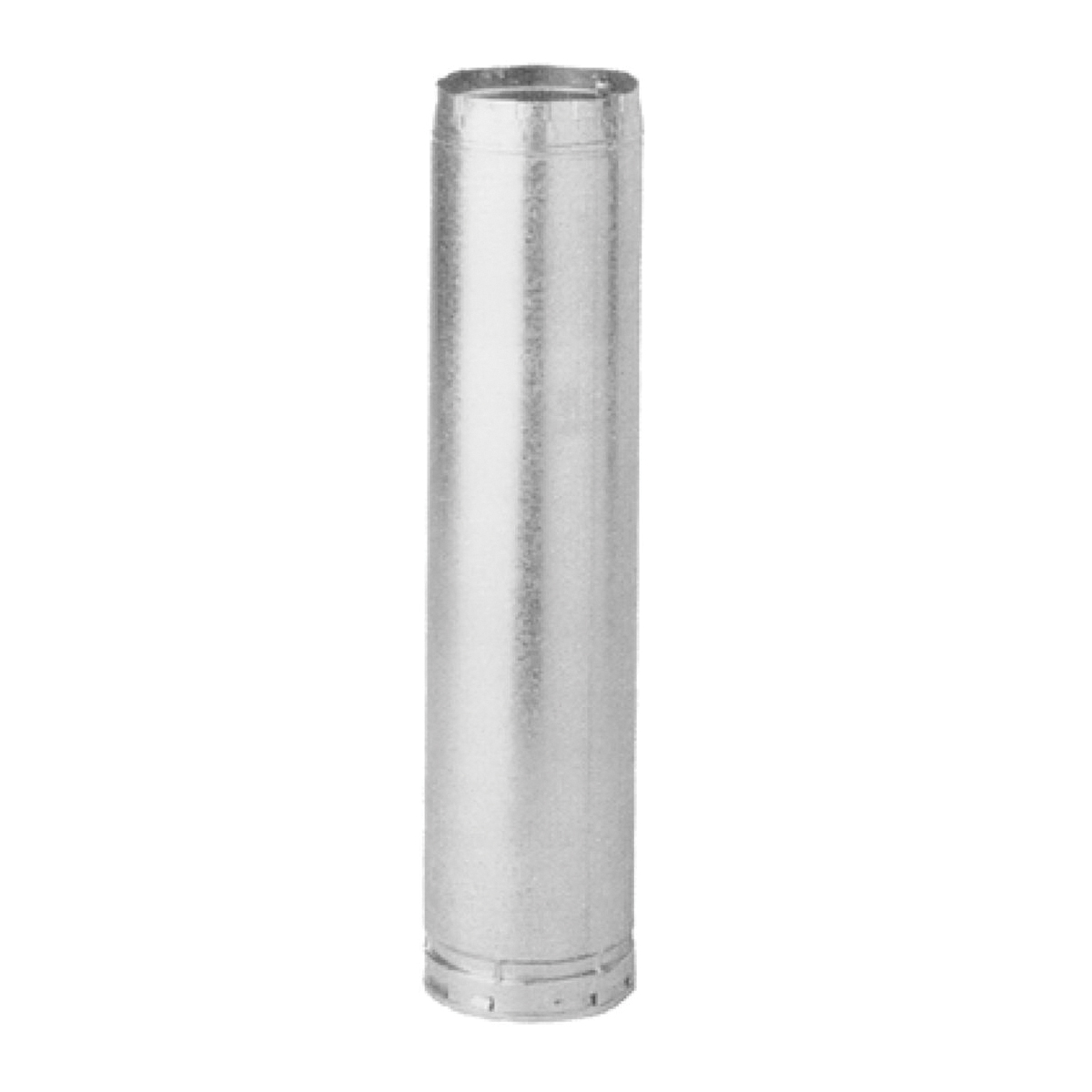 AmeriVent® 7R4 Type B Gas Vent Pipe Section, Steel/Aluminum, 7 in ID x 8 in OD, 4 in L, Galvanized, Import