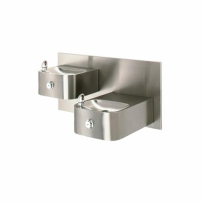 Haws® 1119.14 Barrier Free Drinking Fountain, 0.45 gpm, Pushbutton Operation, Non-Refrigerated Chilling