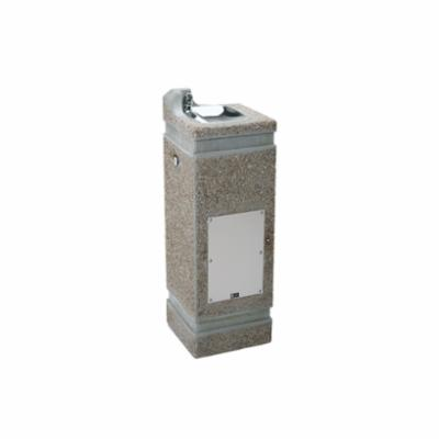 Haws® 3121 Pedestal Drinking Fountain, 0.45 gpm, Pushbutton Operation, Non-Refrigerated Chilling