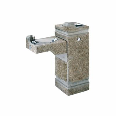 Haws® 3150 Barrier Free Pedestal Drinking Fountain, 0.45 gpm, Pushbutton Operation, Non-Refrigerated Chilling