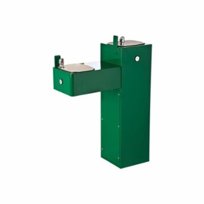 Haws® 3300 Barrier Free Pedestal Drinking Fountain, 0.45 gpm, Pushbutton Operation, Non-Refrigerated Chilling, Green