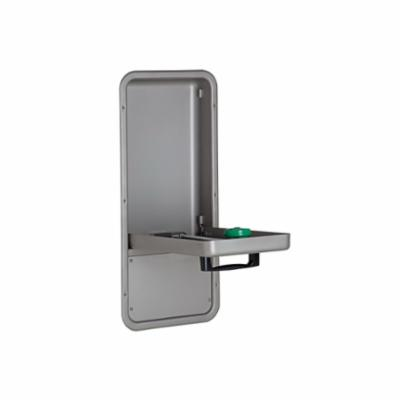 Haws® AXION® MSR 7656WCC Barrier Free Eye/Face Wash With Drain Pan, Wall Mounting, Pull Down Operation, Specifications Met: ANSI Z358.1