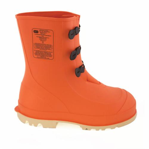 Tingley HazProof® 82330-08 Hazmat Boots, Men's, SZ 8, 11 in H, Steel Toe, PVC Upper, PVC Outsole, Resists: Slip and Chemical