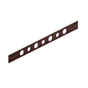 Holdrite® 102-18 Flat Bracket, 7/8 in, 1-1/8 in Hole, 25 lb, Cold Rolled Steel, Copper-Bonded™, Domestic