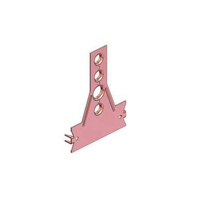 Holdrite® 109-N-6 Flat Bracket, Cold Rolled Steel, Copper Bonded™, Domestic
