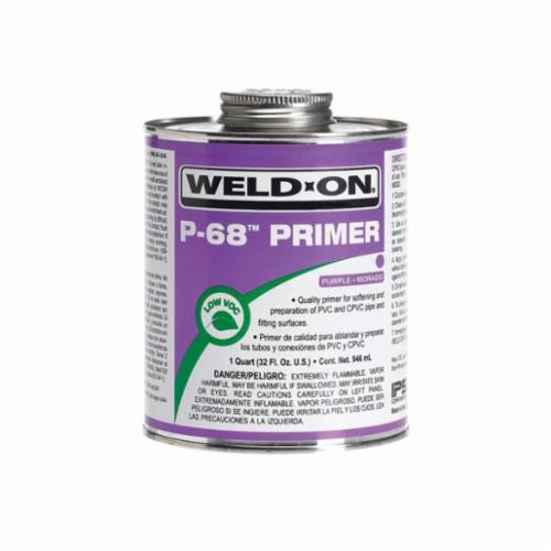 Weld-On® P-68™ 10210 Primer With Applicator Cap, 1 qt Can, Purple