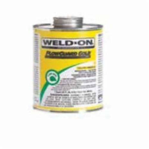 Weld-On® FlowGuard Gold® 11026 Solvent Cement With Applicator Cap, 1 qt Can, Syrupy Liquid, Yellow, 0.986
