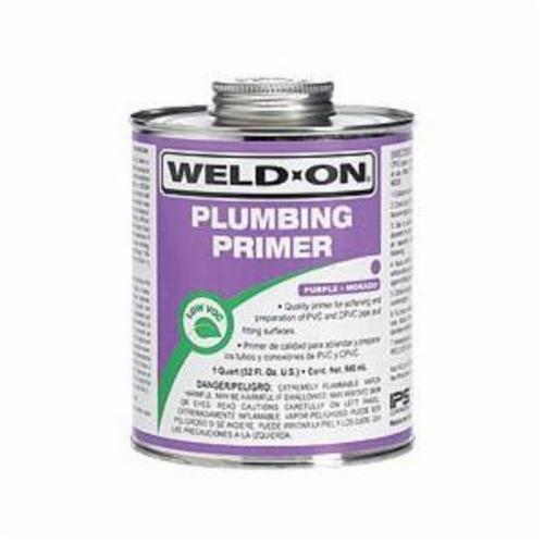 Weld-On® 14027 Plumbing Primer With Applicator Cap, 0.5 pt Can, Purple