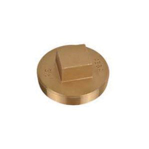 AB&A™ 68603 Raised Square Head Cleanout Plug, Brass, Domestic