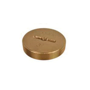 AB&A™ 68652 Countersunk Slotted Head Cleanout Plug, Brass, Domestic
