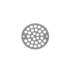 AB&A™ 69523 Round Shower Grate With Grate, Screw, 4 in Dia, Stainless Steel, Chrome Plated, Domestic