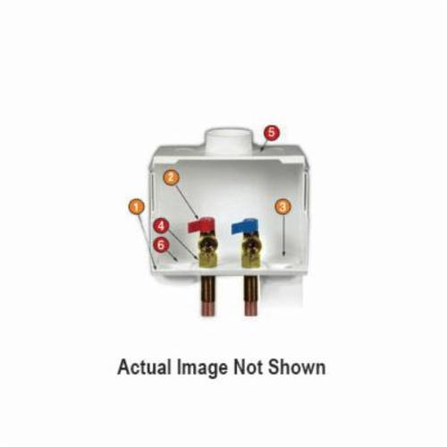 Water-Tite DU-ALL™ 85604 Dual Drain Washing Machine Outlet Box, Domestic
