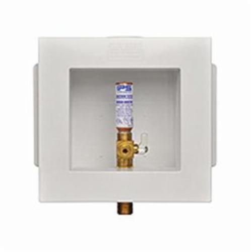 Guy Gray™ 82417 FR-12 Fire rated Ice Maker Outlet Box With Valve and Hammer Arrester, PVC