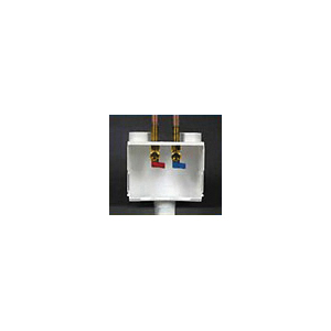 Water-Tite DU-ALL™ 10 N 1™ 85121 Dual Drain Washer Box With Quarter Turn Valve, Domestic