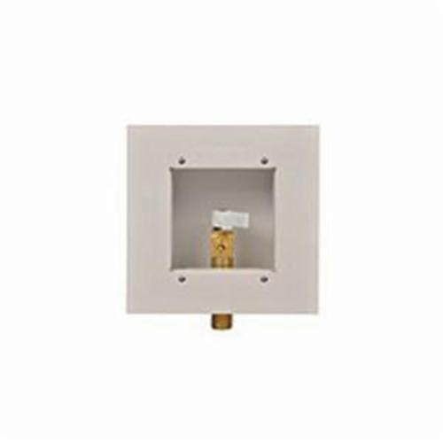 Guy Gray™ 88133 Ice Maker Outlet Box With Valve, 1/2 in C, Steel, White Powder Coated