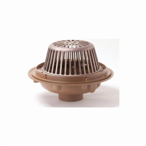 Smith® 1010Y03 Bottom Roof Drain, 3 in Outlet, No Hub, Cast Iron Drain