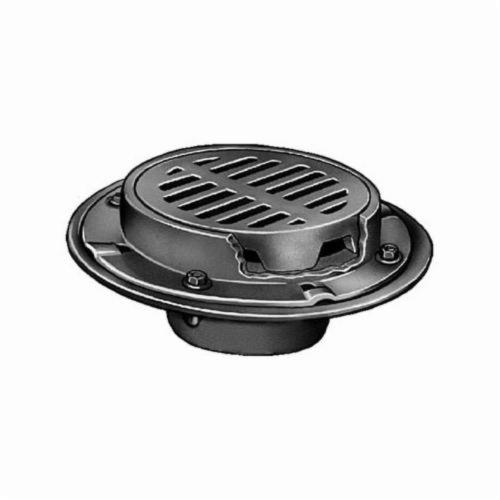 Smith® 2120Y04 Heavy Duty Floor Drain With Round Top, 4 in Outlet, No Hub, Cast Iron Drain