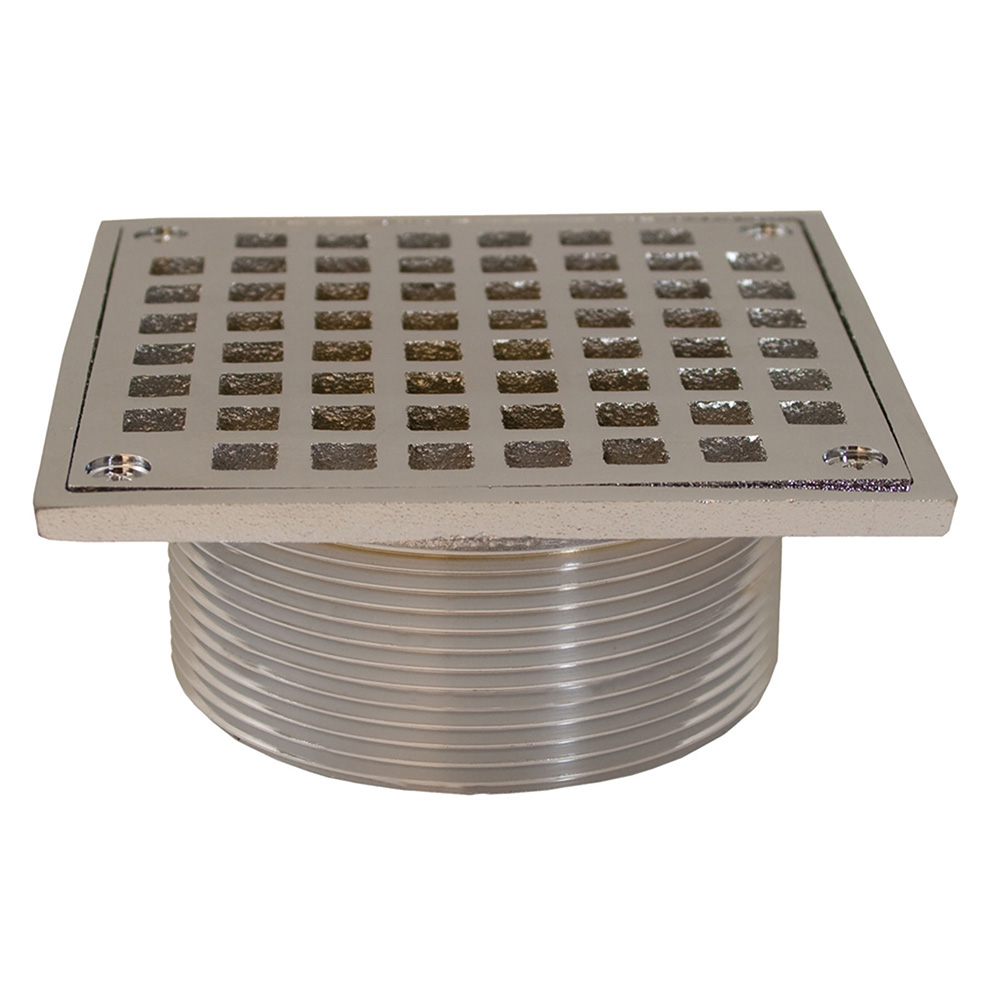 Jones Stephens™ D60954 Spud With Square Strainer, 3-1/2 in IPS, Brass