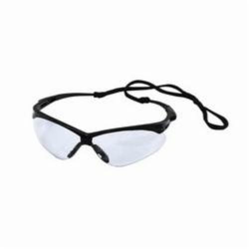 Jones Stephens™ G30013 Nemesis® Safety Glasses, Blue Mirror Lens, Wraparound Black Frame, Specifications Met: ANSI Z87.1+