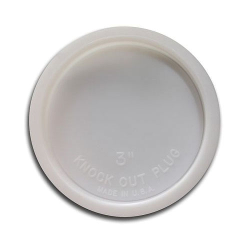 Jones Stephens™ T33004 Knockout Test Cap, 4 in Dia, Plastic