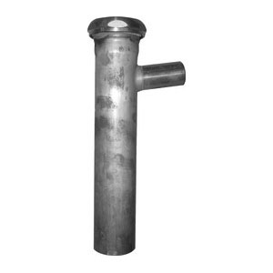 Keeney 54RBBN Branch Tailpiece With Brass Nuts, 1-1/2 in, 8 in L, 22 ga, Slip Joint Connection, Brass