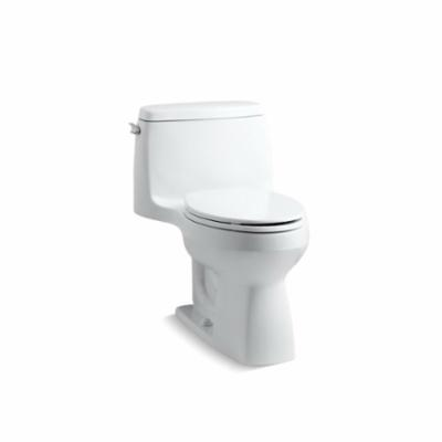 Kohler® 3810-0 Comfort Height® Santa Rosa™ One-Piece Toilet With Left-Hand Trip Lever, Compact Elongated Front Bowl, 16-1/2 in H Rim, 1.28 gpf, White