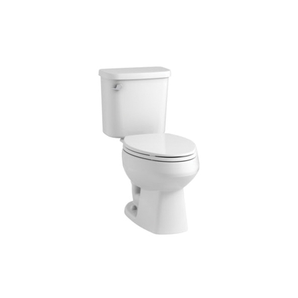 Sterling® Pro Force® 403081-0 Windham™ 2-Piece Toilet, Elongated Bowl, 15 in H Rim, 1.28 gpf, White