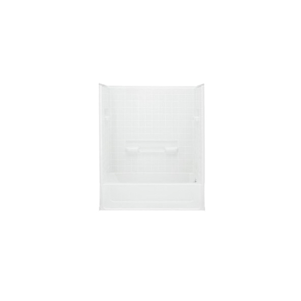 Sterling® 61040120-0 All Pro® Bath/Shower, 60 in L x 30 in W x 72-3/4 in H, Vikrell®, White