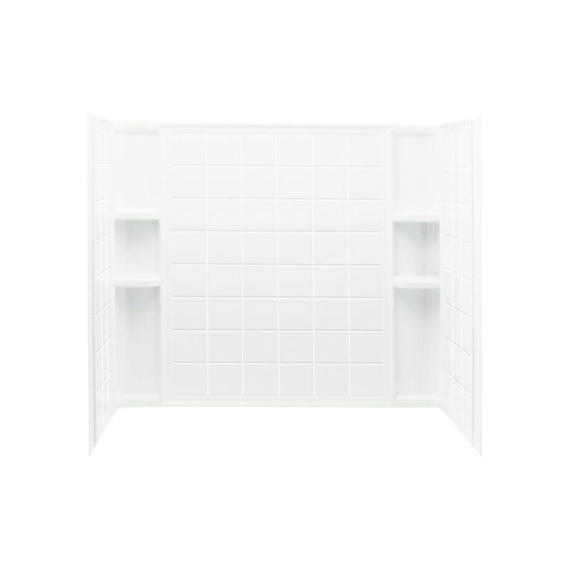 Sterling® 71124100-0 Ensemble™ Bath/Shower Wall Set, 60 in L x 33-1/4 in W x 55-1/4 in H, Vikrell®