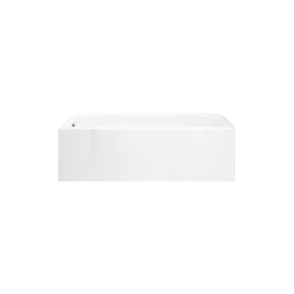Sterling® 71141118-0 Accord® Bathtub with Backer Board, Soaking Hydrotherapy, Rectangular, 60 in L x 30 in W, Left Drain, White