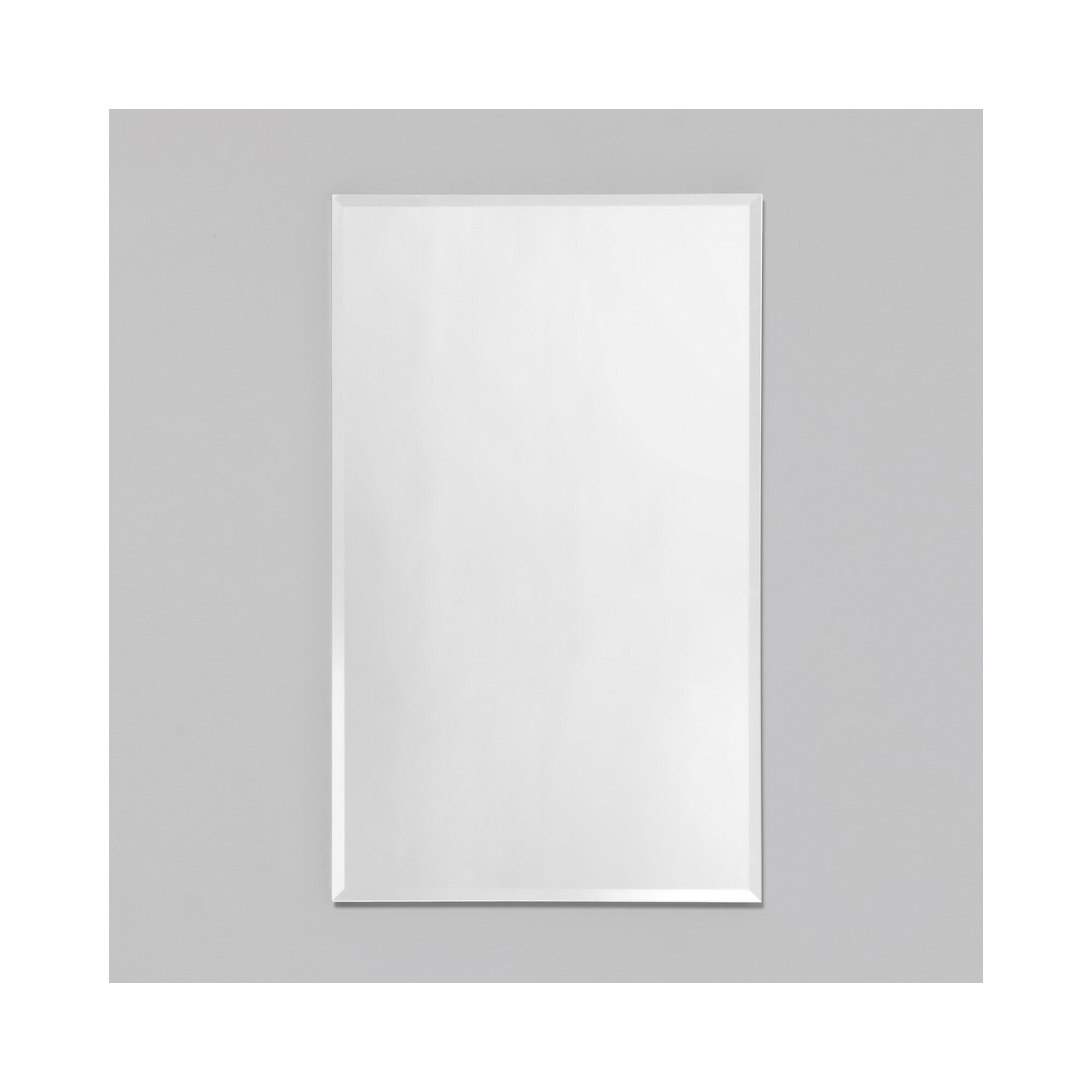 Robern® RC2426D4FP1 R3 Series Single Door Medicine Cabinet With Interior Polished Edge Front Mirror, 24 in OAW x 26 in OAH, Aluminum, Satin Anodized