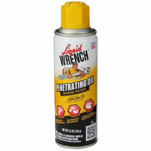 Liquid Wrench® CERFLON® L106 Anti-Seize Fast Acting Penetrating Oil, 6 oz Aerosol Metal Can, Liquid, Yellow, 0.9