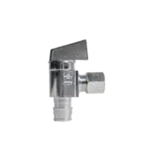 Aquaflo® V-102-A-LL Quarter-Turn Ball Valve, 1/2 x 3/8 in, FNPT x OD Compression, Brass Body, NBR/EPDM Softgoods