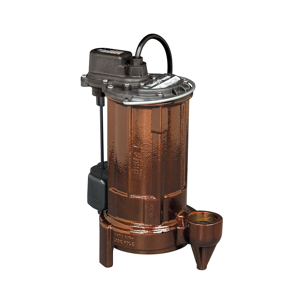 Liberty Pumps® 287 280 1-Phase Submersible Sump Pump, 62 gpm, 1-1/2 in Outlet, 1/2 hp, Cast Iron, Import