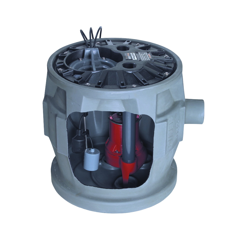 Liberty Pumps® ProVore™ P382XPRG101 PROVORE®380 1-Phase Simplex Grinder System, 1 hp, 115 VAC, 2 in Outlet, Polyethylene, 12 A