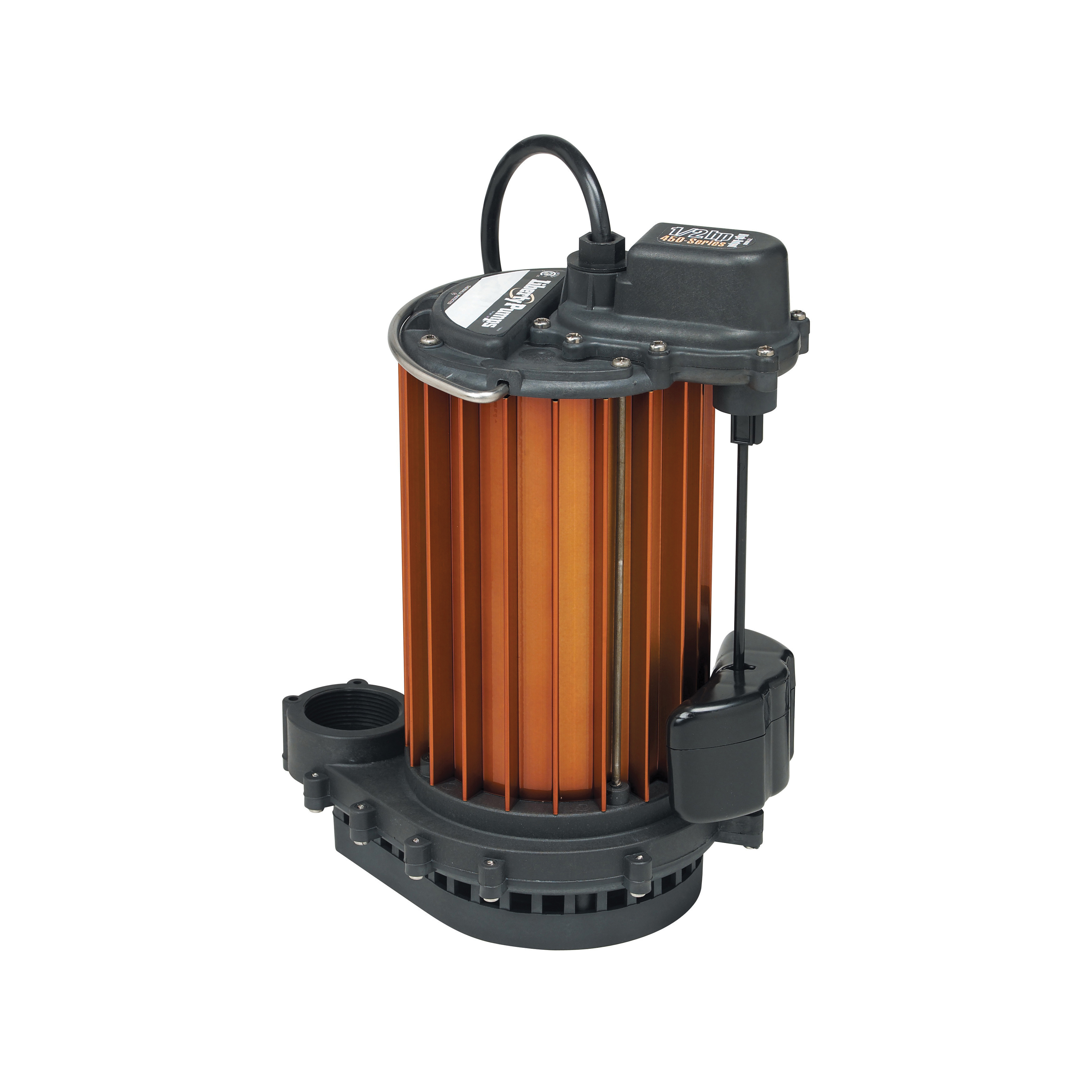 Liberty Pumps® 453 450 1-Phase Submersible Sump Pump With Plug, 52 gpm, 1-1/2 in Outlet, 1/2 hp, Aluminum, Domestic