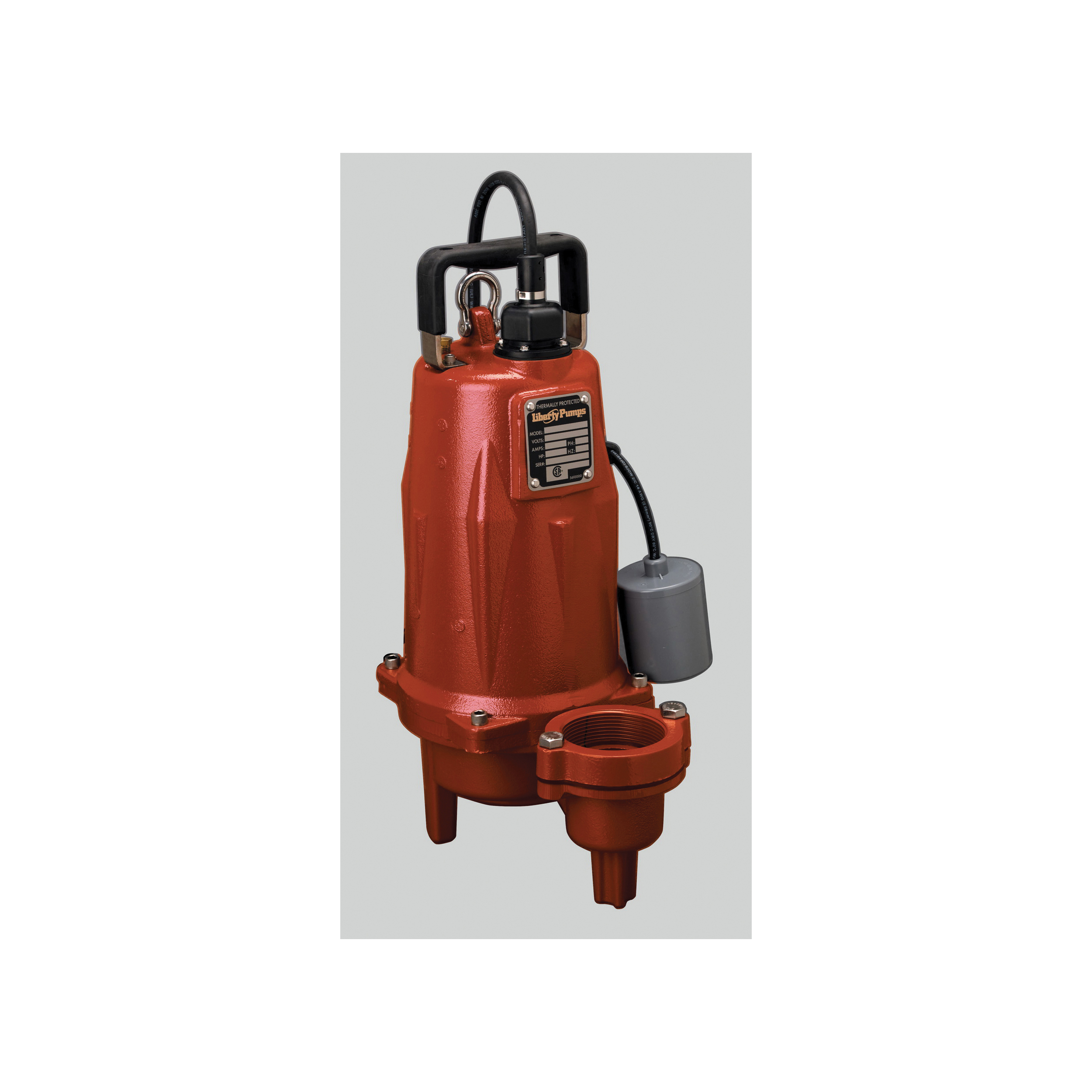 Liberty Pumps® LEH154M2-2 LEH50 3-Phase High Head Sewage Pump, 1-1/2 hp, 440 to 480 VAC, 2 in Flanged Outlet, Cast Iron, 5.3 A