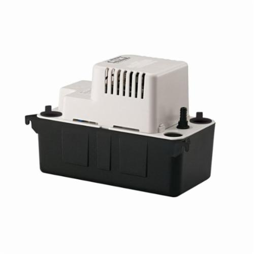 Little Giant® 554405 VCMA-15ULS Automatic Condensate Removal Pump, 65 gph, 15 ft Shutoff Head, 60 W, Import