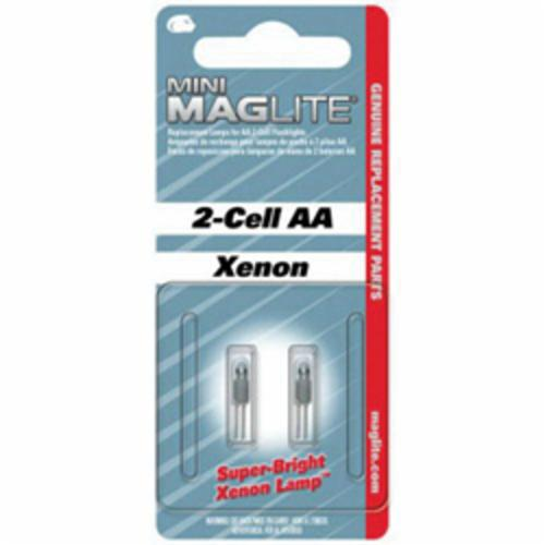 MAGLITE® 459-LM2A001 Mini Replacement Lamp, Xenon Bulb, Push-In Base, 14 Lumens