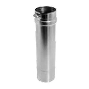 DuraVent® FasNSeal® FSVL1204 Single Wall Special Gas Vent Pipe, Stainless Steel, 4 in Dia, 12 in L