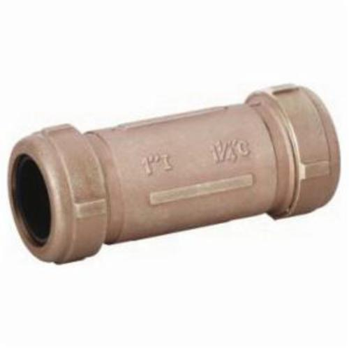 Matco-Norca™ 450L03LF Long Pattern Compression Coupling, 1/2 x 3/4 in, IPS x CTS, Brass