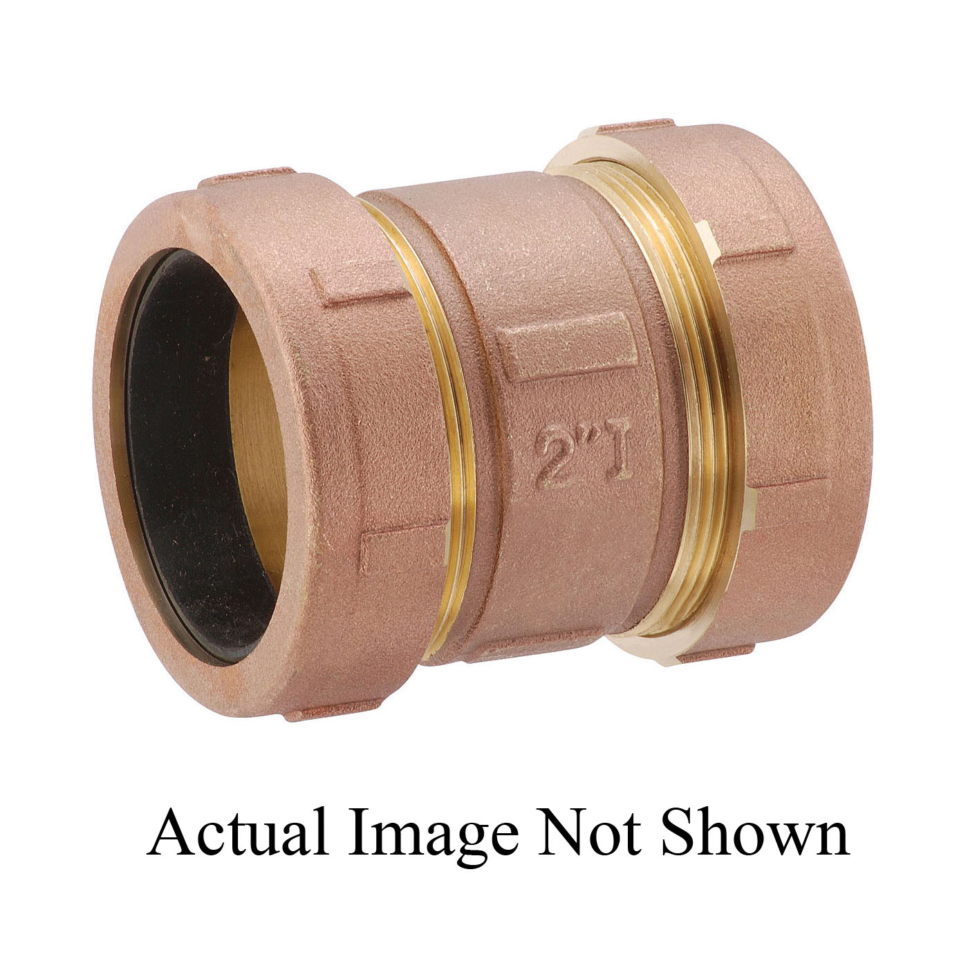 Matco-Norca™ 450T07LF Short Compression Coupling, 1-1/2 in, IPS x CTS, Brass