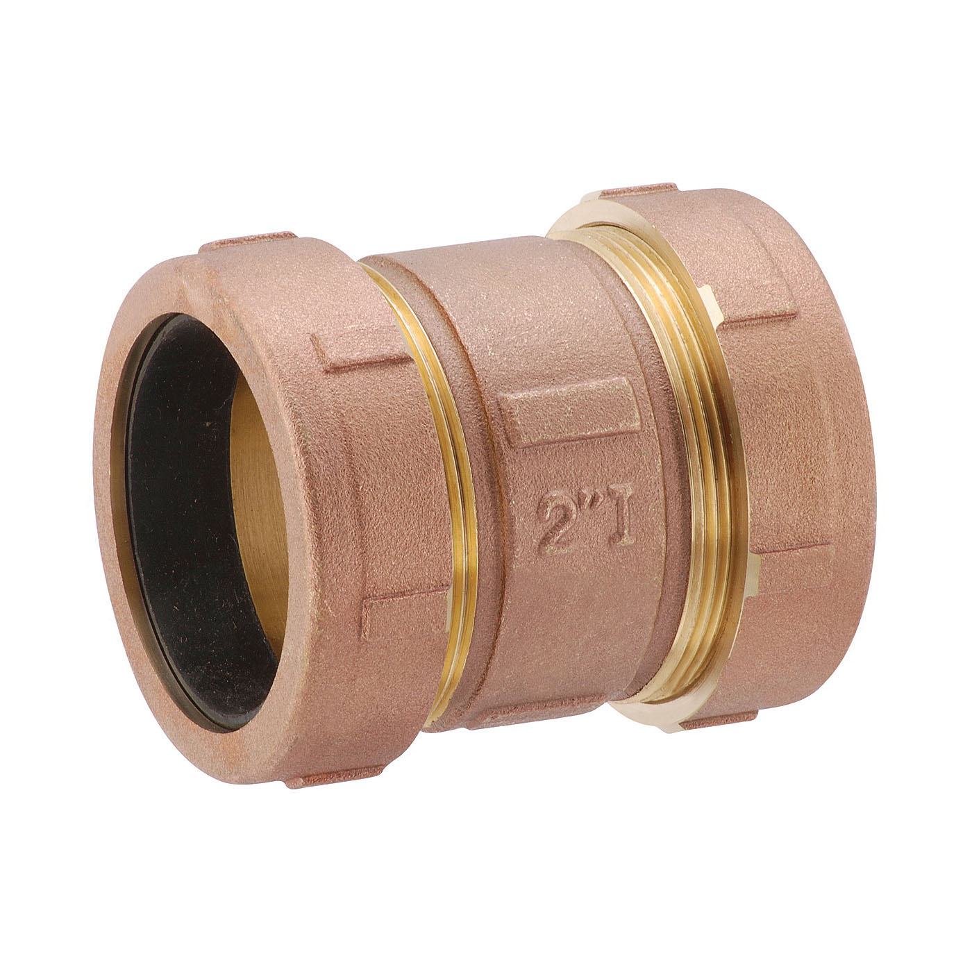 Matco-Norca™ 450T08LF Short Compression Coupling, 2 in, IPS x CTS, Brass
