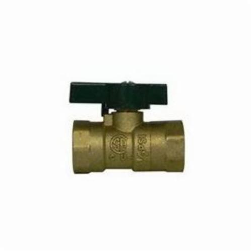 McDonald® 4901-110 2-Piece Low Pressure Quarter-Turn Ball Valve With Handle, 1/2 in, FNPT, Forged Brass Body, PTFE Softgoods