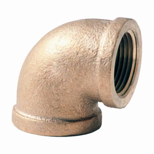 Merit Brass XNL101-12 90 deg Pipe Elbow, 3/4 in, FNPT, 125 lb, Brass, Rough, Import