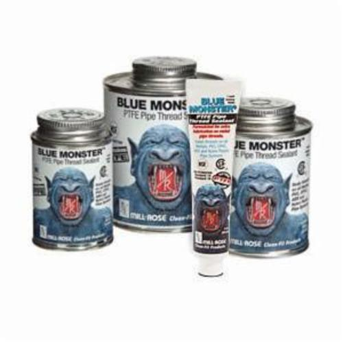 Cleanfit Blue Monster® 76005 Heavy Duty Industrial Grade Pipe Thread Sealant With PTFE, 1 pt Can, Paste, White, 1.41
