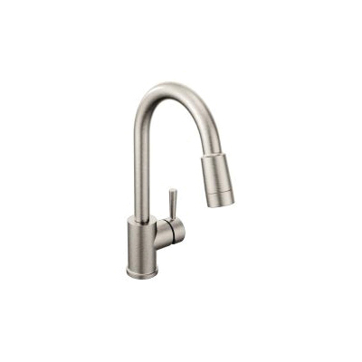 CFG 46201CSL Pull-Down Kitchen Faucet, Edgestone™, 1.5 gpm, Classic Stainless, 1 Handle, 1/3 Faucet Holes, Function: Traditional, Domestic, Residential
