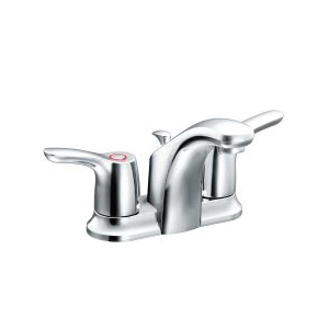 CFG CA42211 Lavatory Faucet, Baystone™, Chrome Plated, 2 Handles, 50/50 Pop-Up Drain, 1.2 gpm