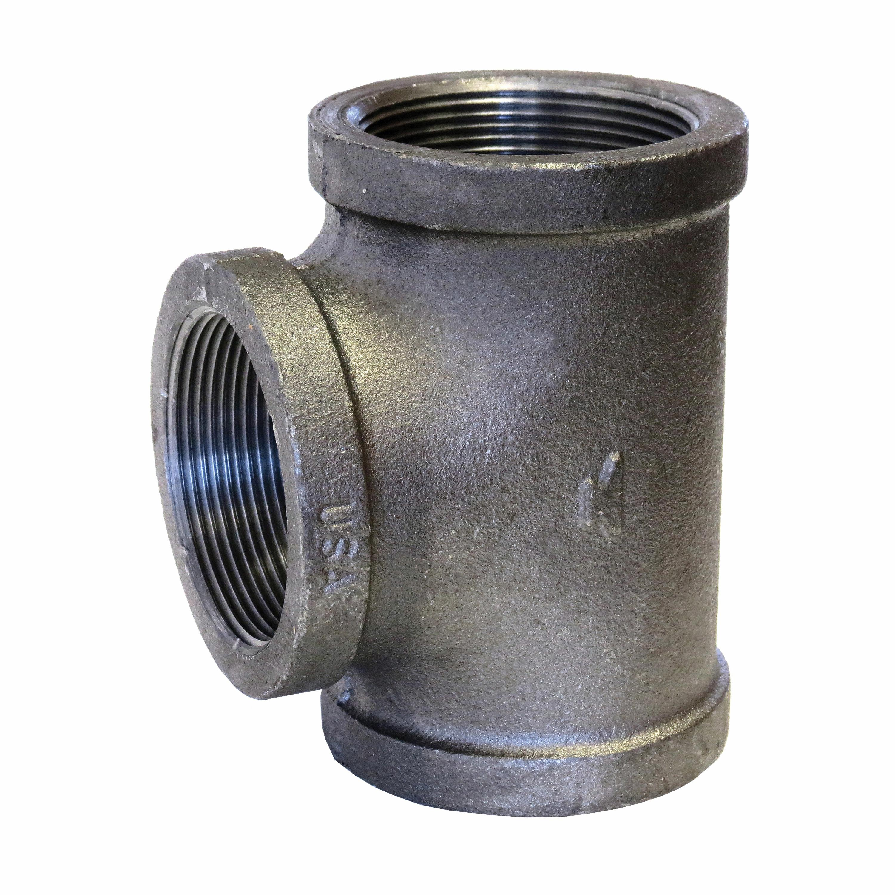 SPF/Anvil™ 0811031210 FIG 3105 Straight Pipe Tee, 3 in, FNPT, 150 lb, Malleable Iron, Galvanized, Import